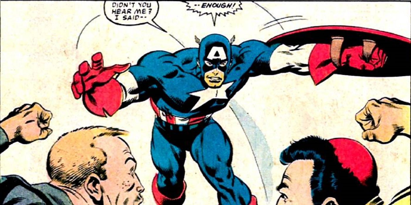 Captain America S Stance On Violence In Response To Hate Speech