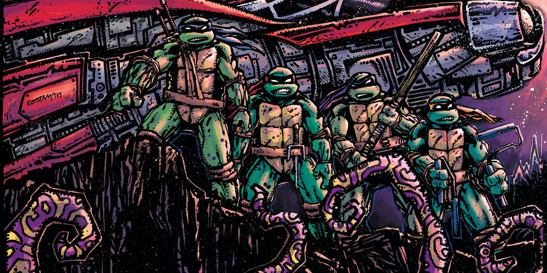 TMNT #100 Variant Cover Lists Every Creator Who Ever Worked On The Turtles