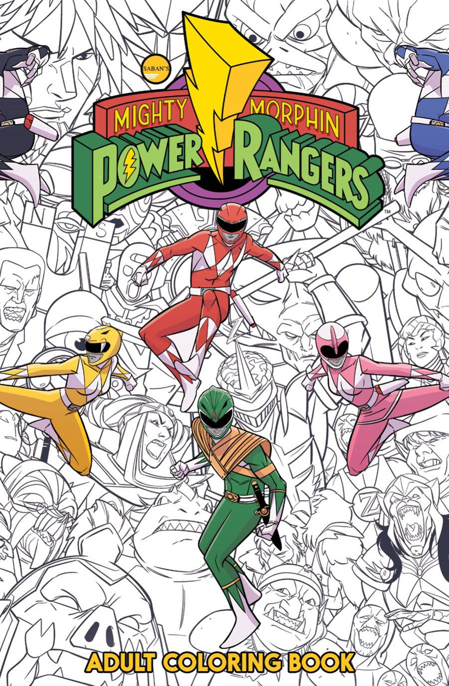 PREVIEW Mighty Morphin Power Rangers Adult Coloring Book   CBR