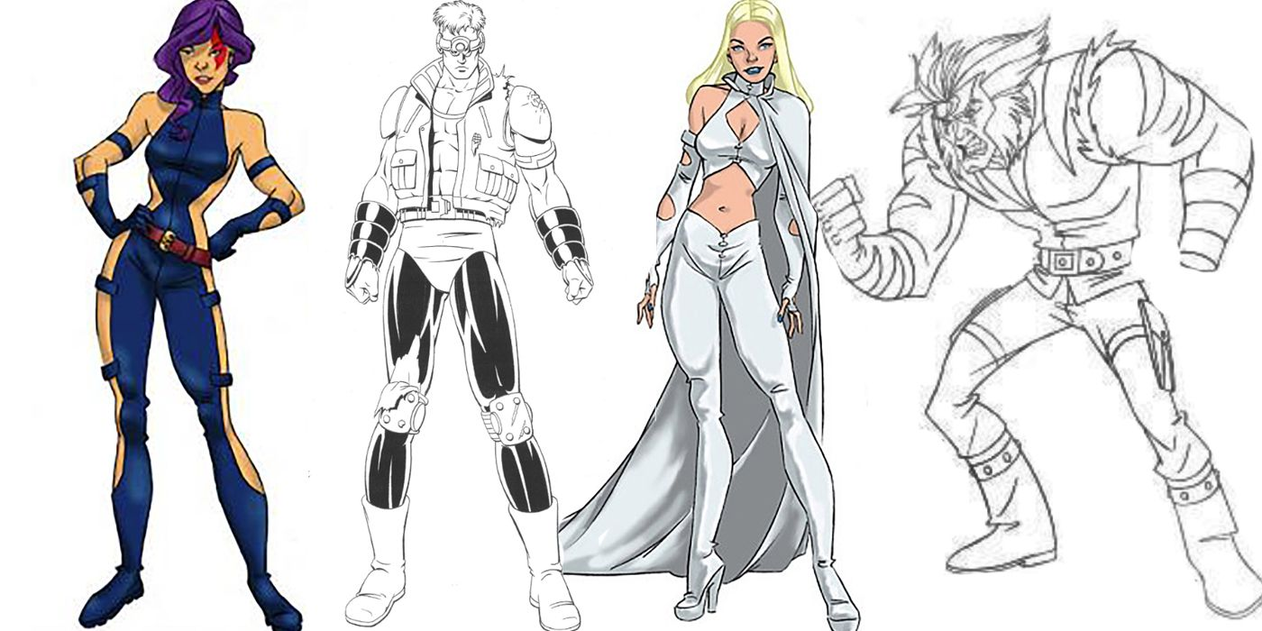 Unused X Men Cartoon Illustrations Cbr