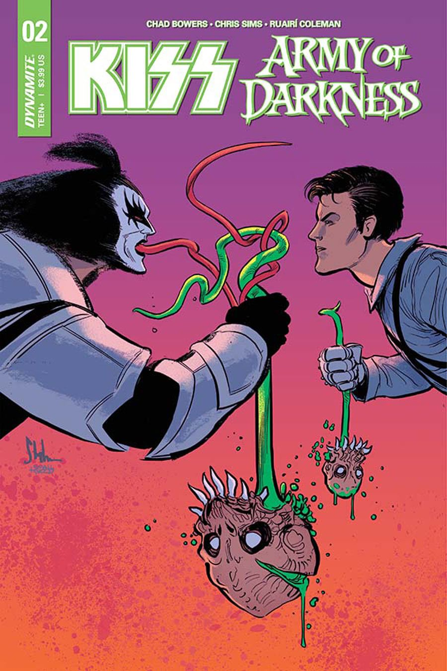 DYNAMITE ENTERTAINMENT//2018 KYLE STRAHM COVER A KISS//ARMY OF DARKNESS #1