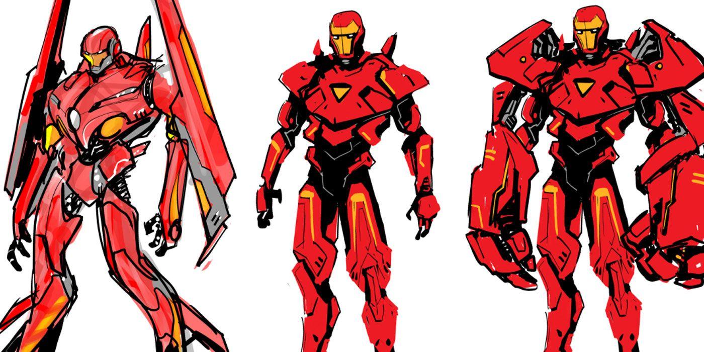 concept art for nine new iron man armors  cbr