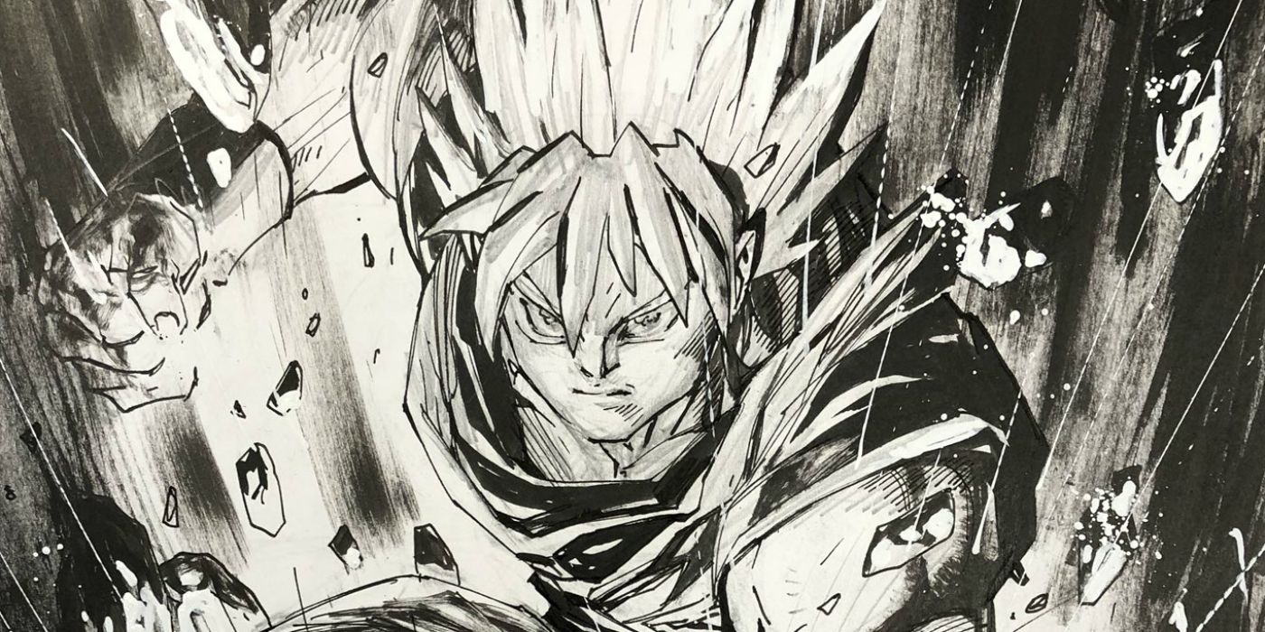 Jim lee draws dragon balls goku for the first time cbr