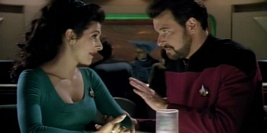 star trek discovery sort of reunites will riker deanna troi
