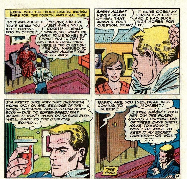 How Did Iris Find Out Barry's Secret Identity in the Flash Comics?