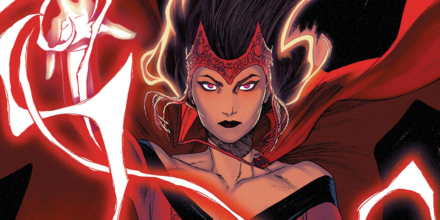 This Animated Scarlet Witch Marvel Trading Card Is Peak '90s Perfection