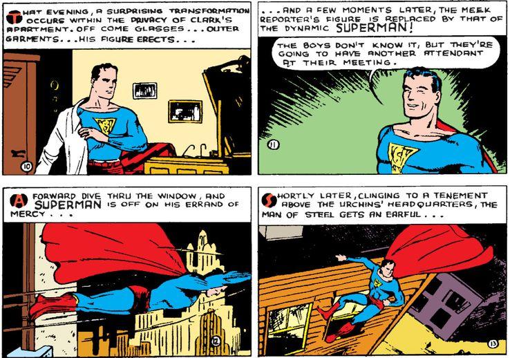 action comics 8 - La primera vez que Superman se abrió la camisa