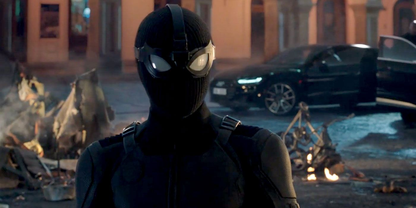 Far From Home: Spider-Man's Stealth Suit Goggles Get a Fantastic Close-Up