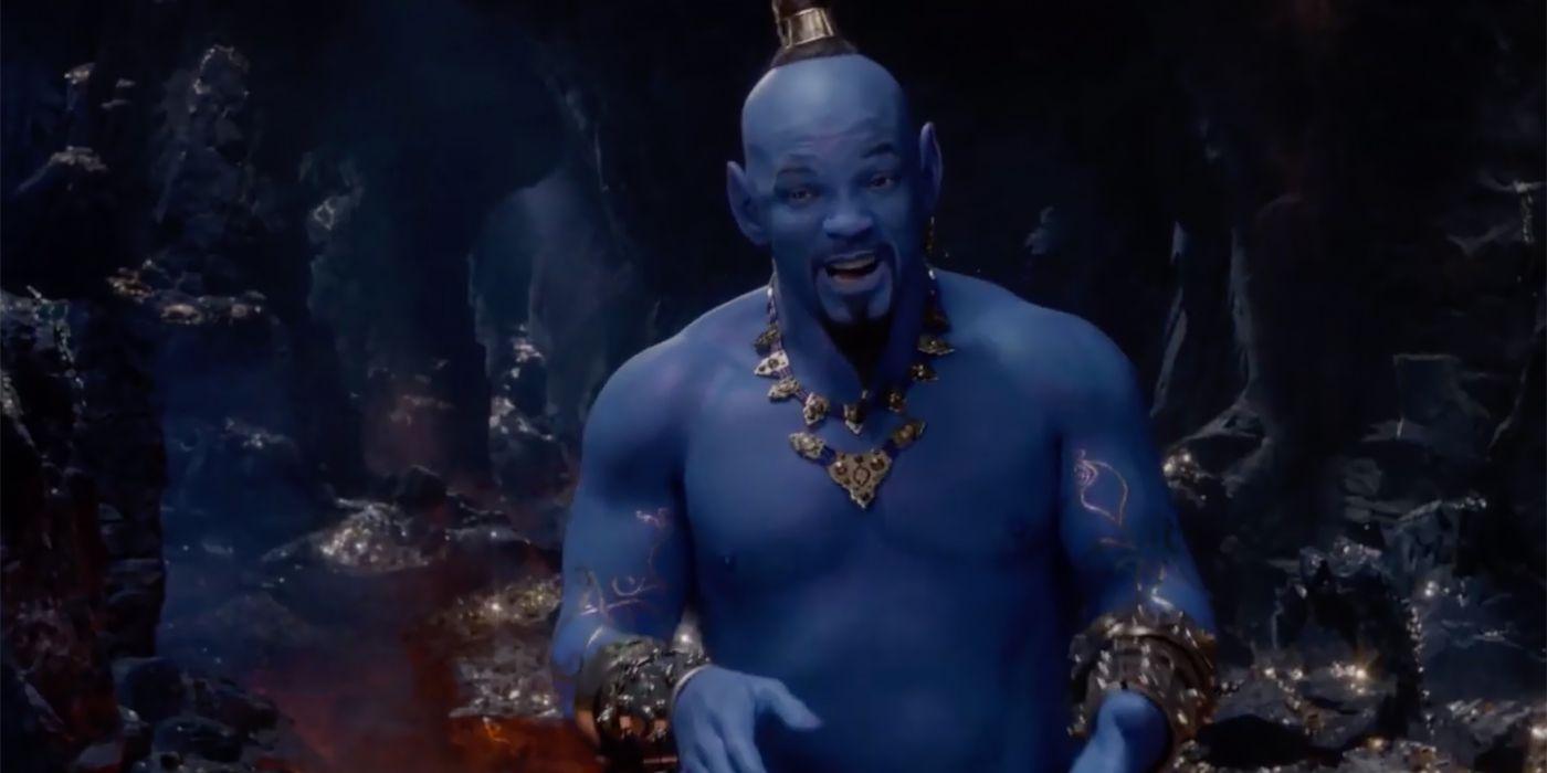Genie S Not Blue On Disney S Aladdin Poster Cbr