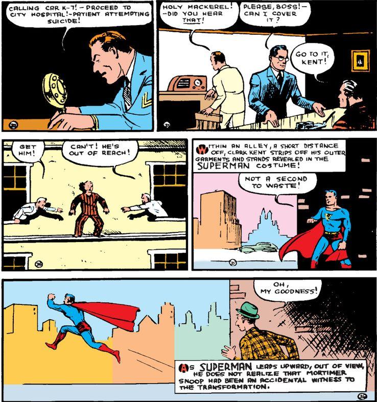 action comics 9a 1 - ¿Qué le pasa a la ropa de Clark Kent cuando se convierte en Superman?