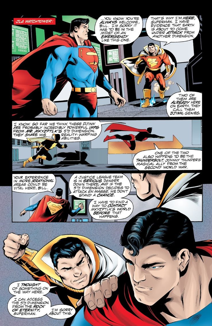 jla 29 1 - Shazam! vs Superman: ¿Quién es más poderoso?