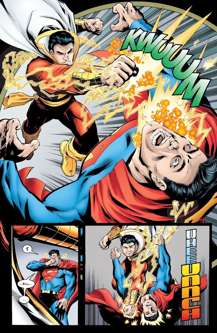 jla 29 2 - Shazam! vs Superman: ¿Quién es más poderoso?