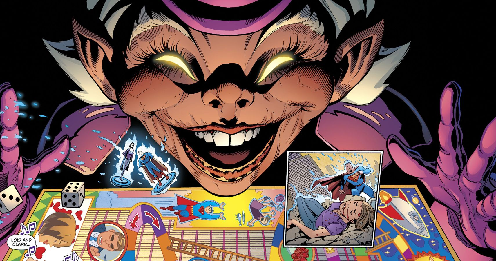 Despite the short and stumpy appearance of Mr. Mxyzptlk, he has unlimited powers and can even destroy Superman.