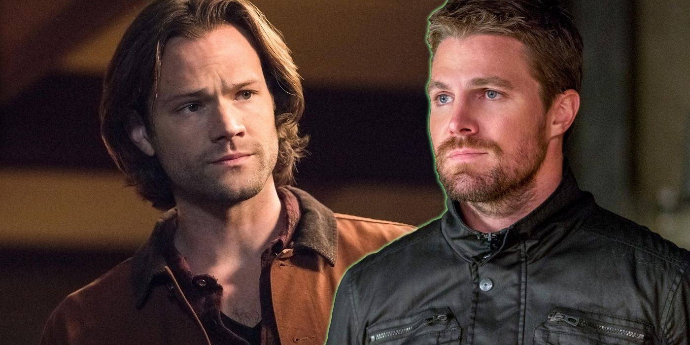 Stephen Amell and Jared Padalecki Toast the End of Arrow and Supernatural