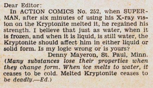 action comics 256 - La primera vez que  Superman derretió plomo con sus poderes de visión