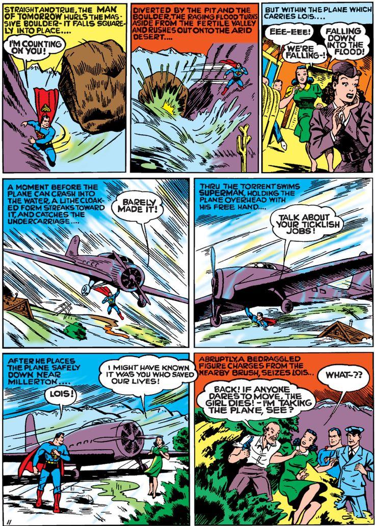 worlds best comics 1 1 - La primera vez que Superman salvó un avión en los cómics