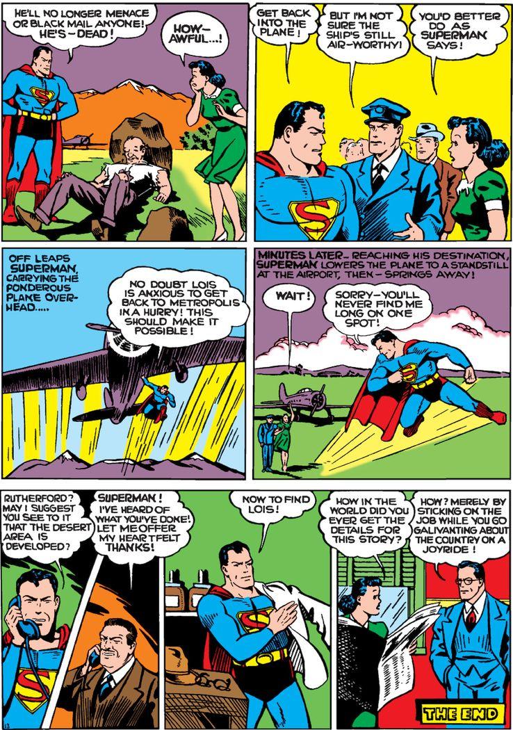 worlds best comics 1 2 - La primera vez que Superman salvó un avión en los cómics