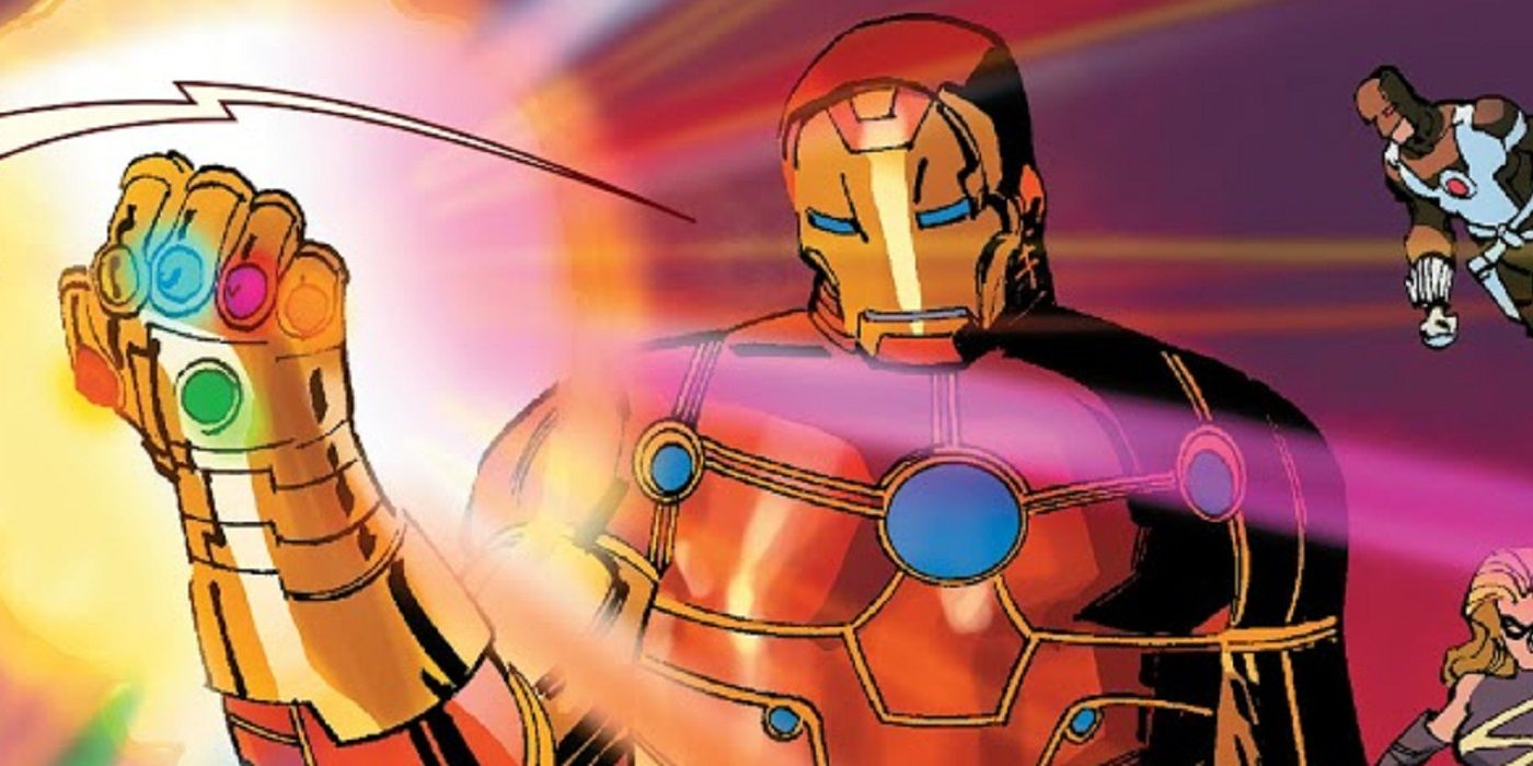 The First Time That Iron Man Wielded the Infinity Gauntlet