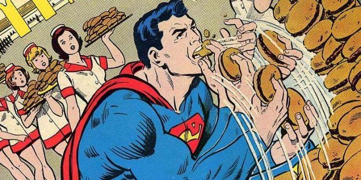 2 eating Cropped - 10 superpoderes que todos hemos olvidado que tiene Superman