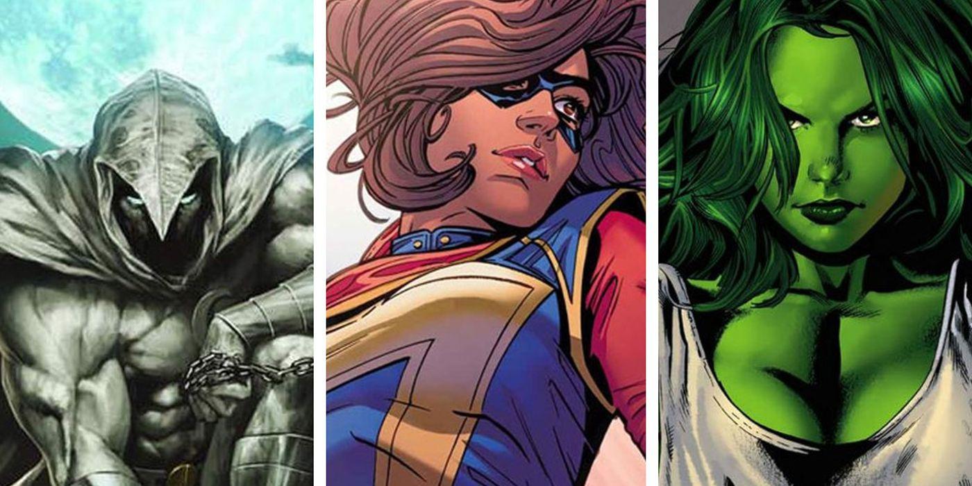 Moon Knight, Ms Marvel and She-Hulk Disney+ Logos Revealed | CBR