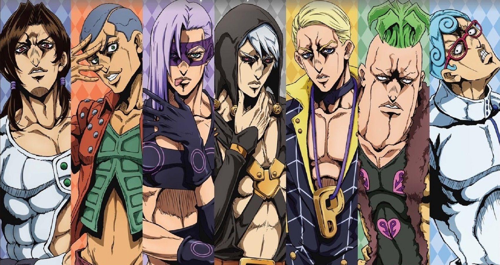 Jojo Every Member Of La Squadra From Golden Wind Ranked Cbr