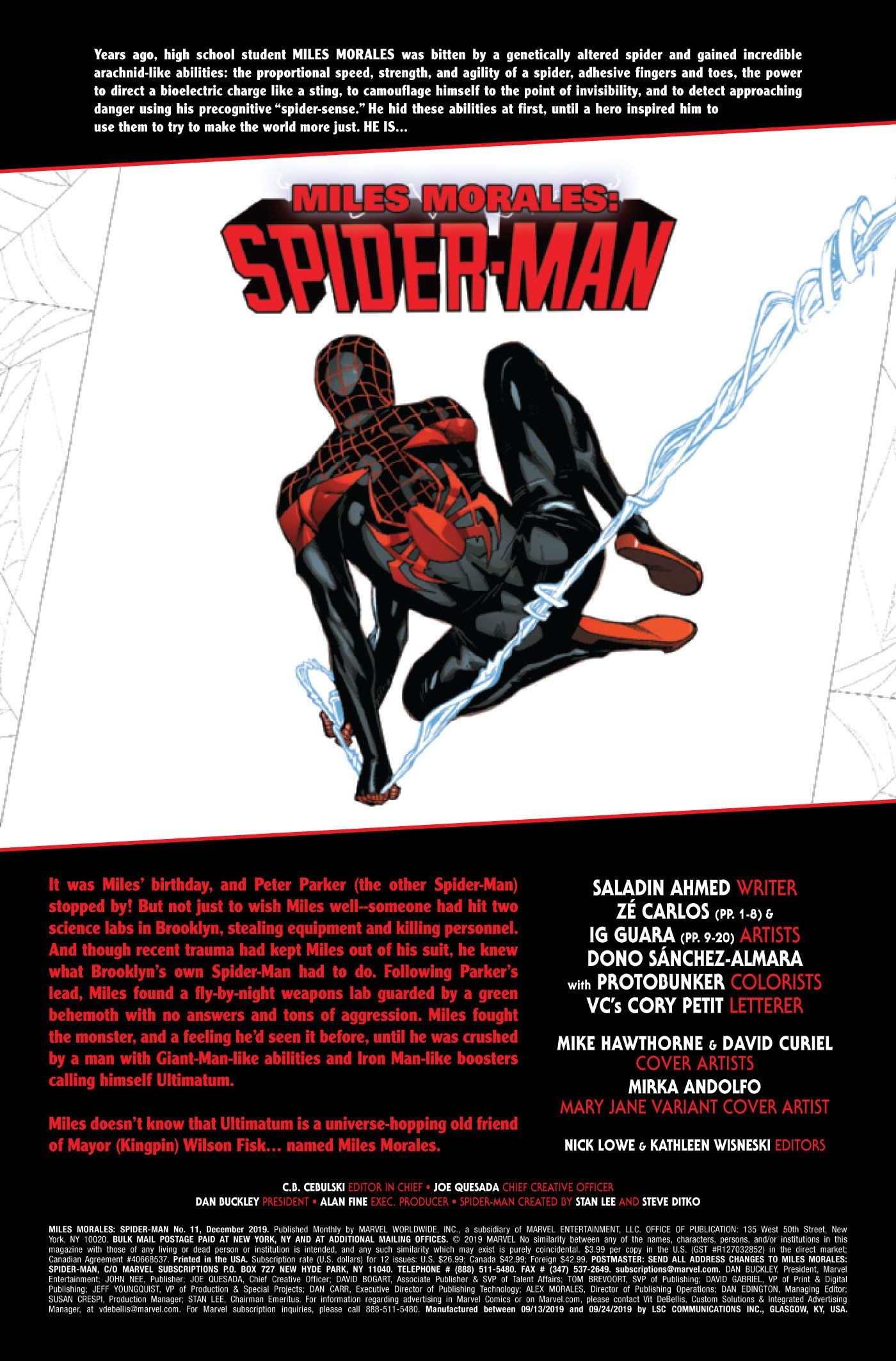 Miles Morales: Spider-Man #11 Introduces a New Supervillain Team