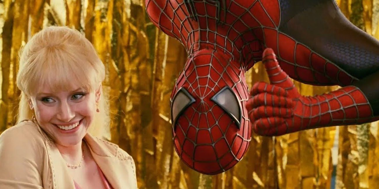 """Gwen Stacy (Bryce Dallas Howard) left and Spider-Man (Tobey Maguire) right in """"Spider-Man"""" (2007)"""