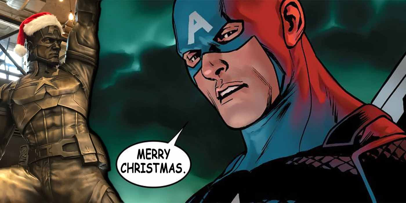 EXCL: Captain America: Brooklyn's Bronze Statue Gets in the Holiday Spirit