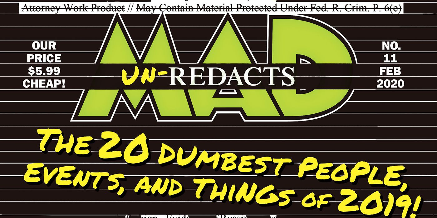 EXCL.: MAD's 20 Dumbest Things of 2019 Include ICE Camps, Old Town Road
