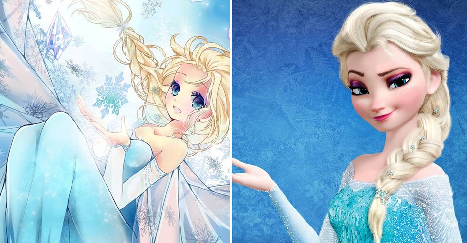 10 Disney Princesses Reimagined As Anime Characters Cbr