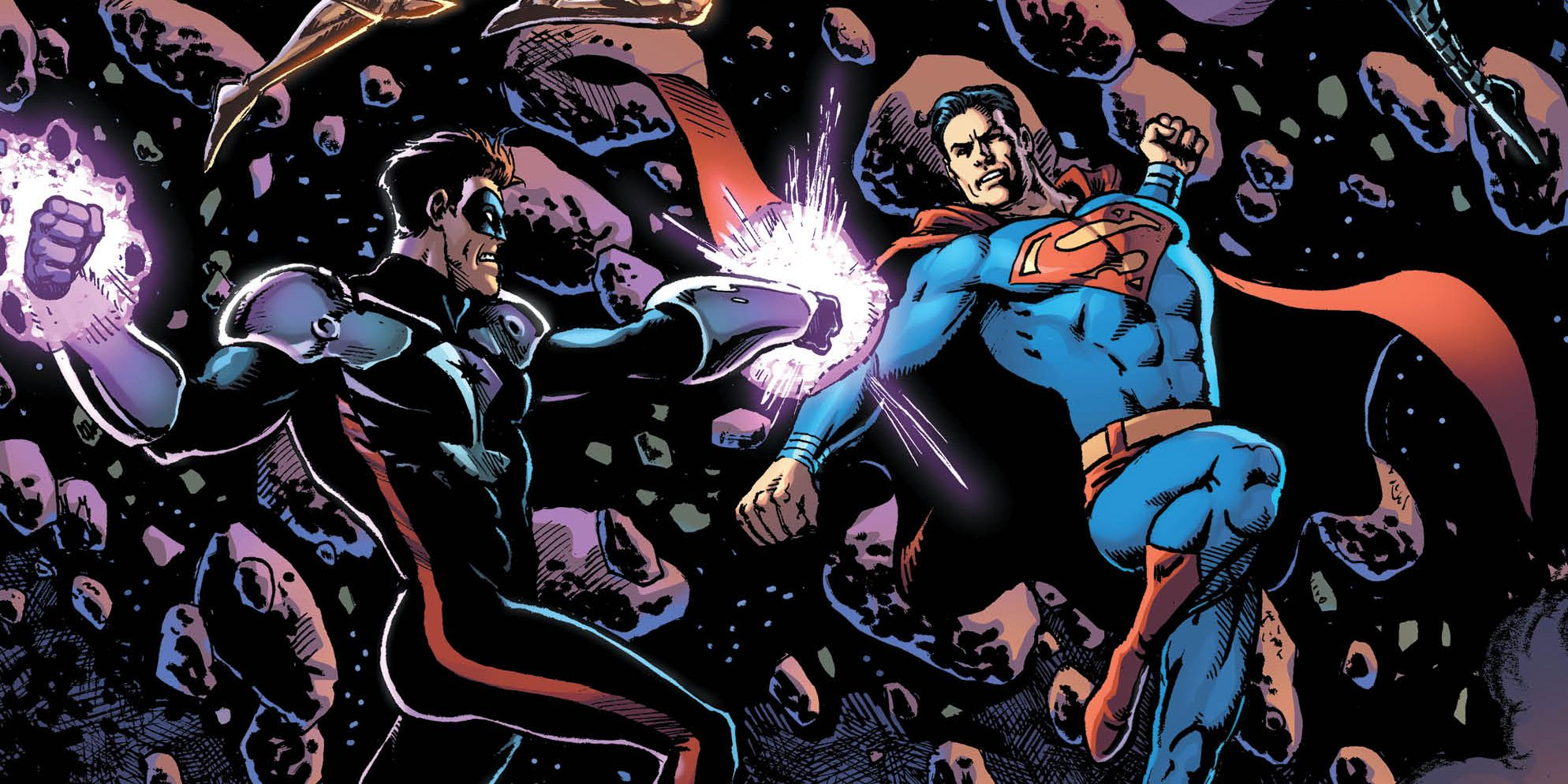 Superman Fights Superboy as Earth's Heroes Attack the Blackstars