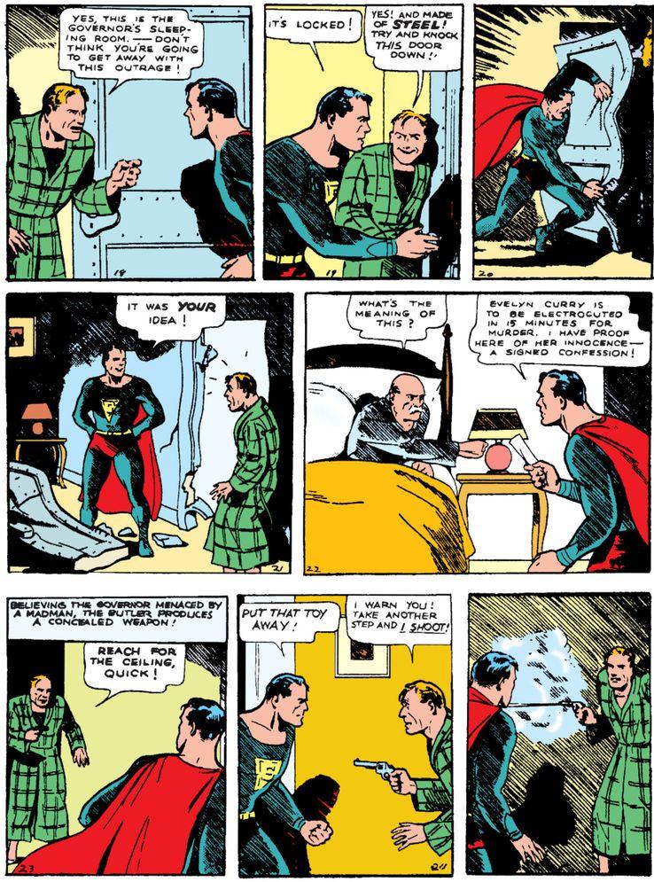 """cape action comics 1 1 - ¿Cuándo añadió Superman una """"S"""" a su capa?"""