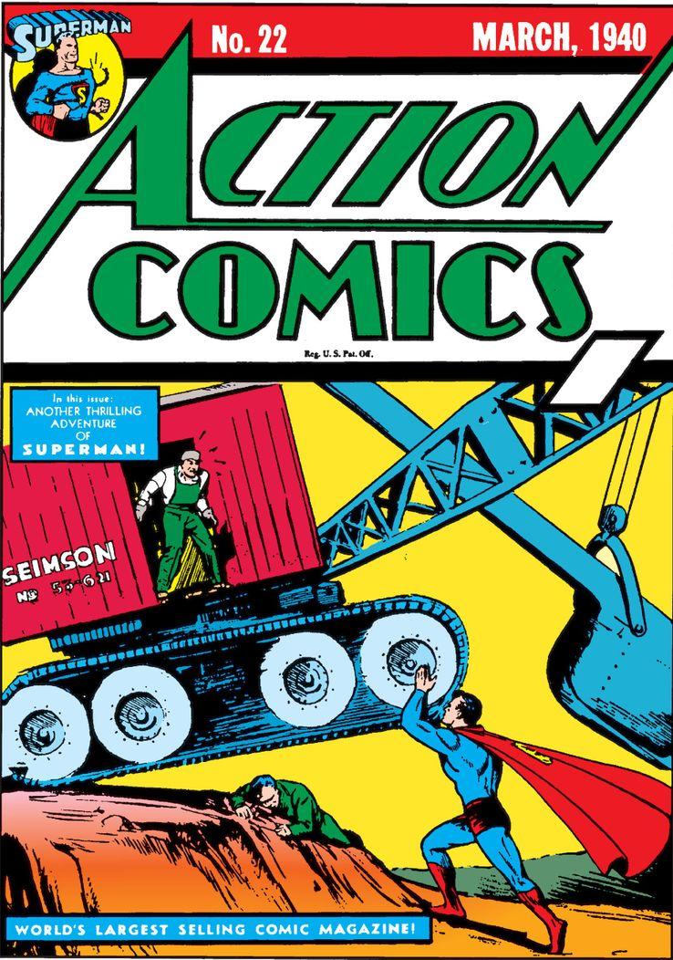 """cape action comics 22 1 - ¿Cuándo añadió Superman una """"S"""" a su capa?"""