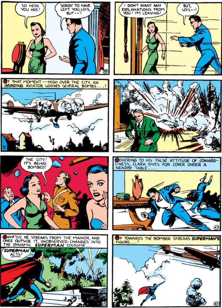 """cape action comics 22 2 - ¿Cuándo añadió Superman una """"S"""" a su capa?"""