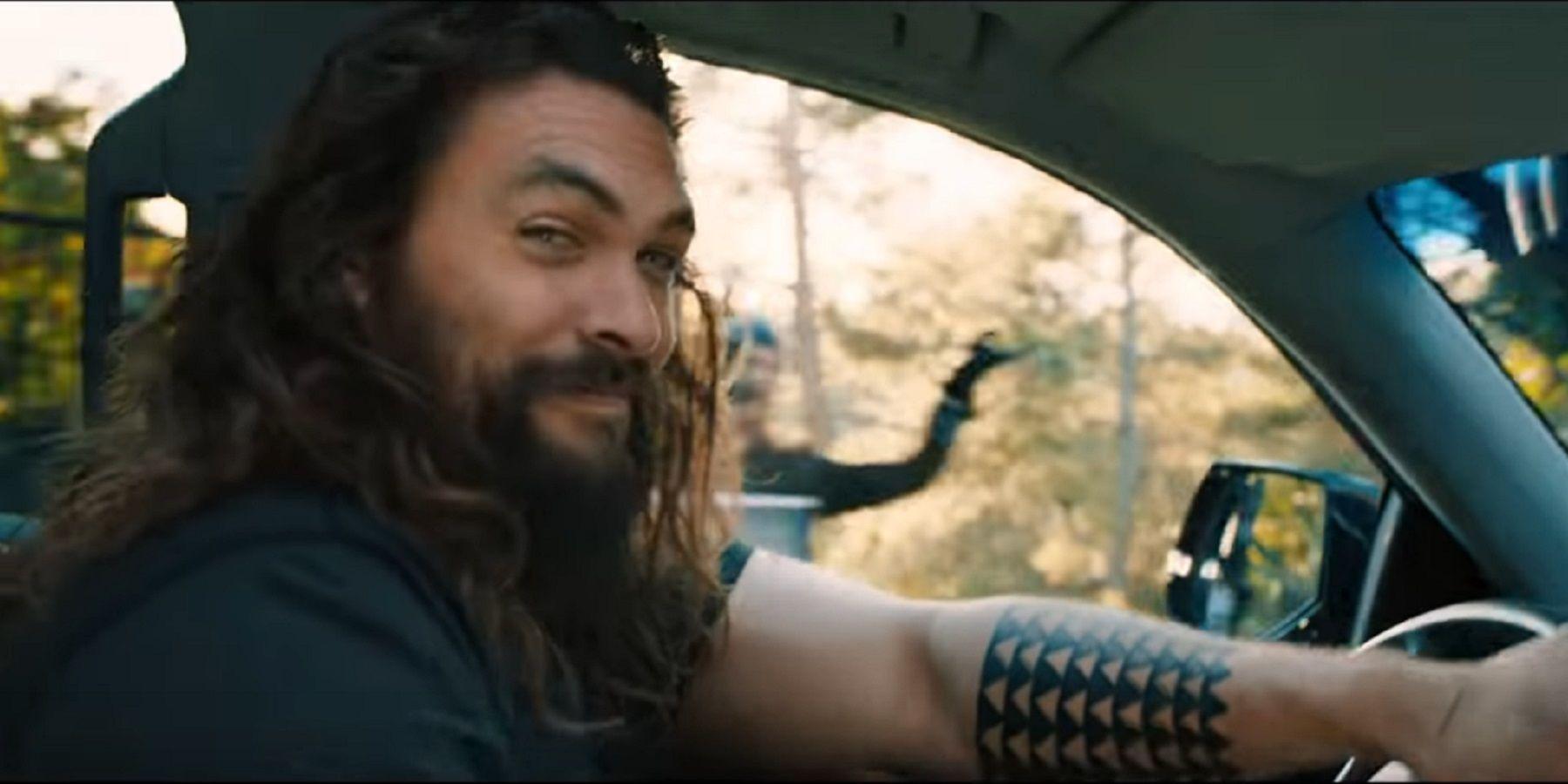 Aquaman's Jason Momoa Gets Comfortable in Unsettling Rocket Mortgage Super Bowl Ad