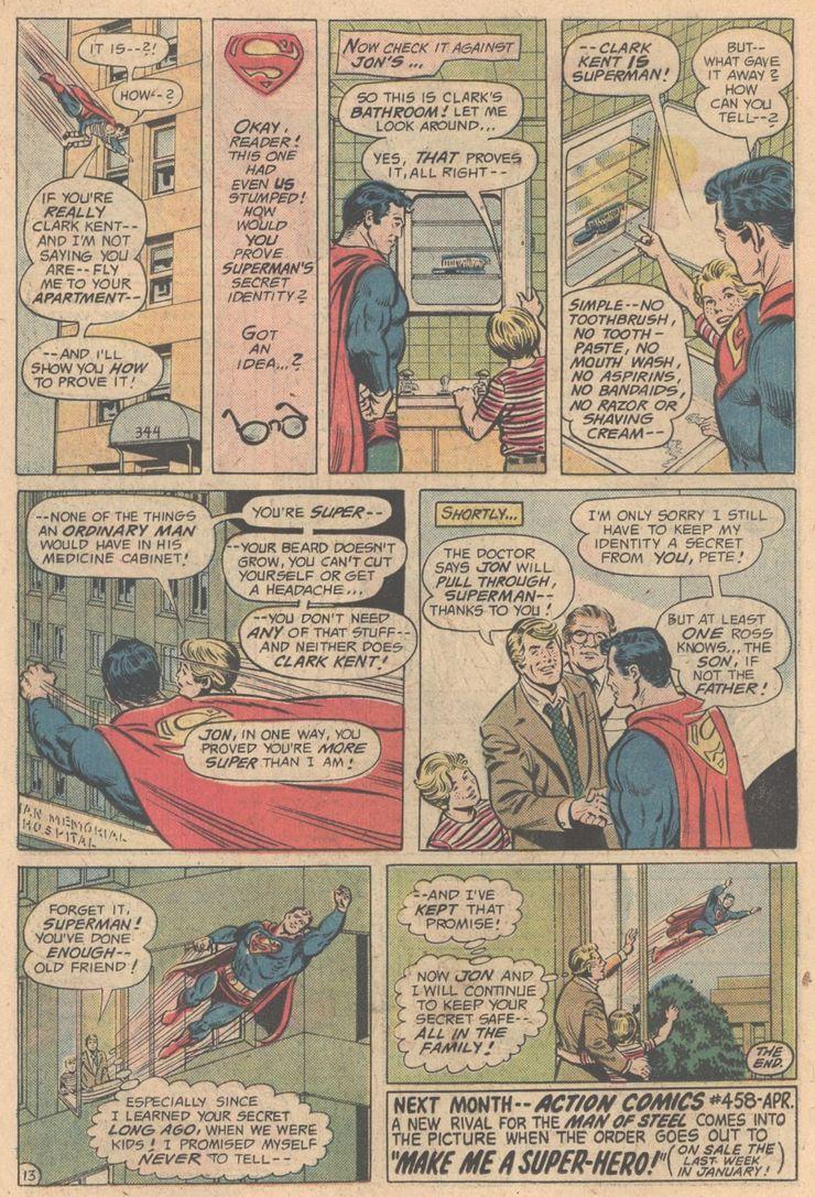 action comics 457 3 - Cuando Pete Ross descubrió la identidad secreta de Superman
