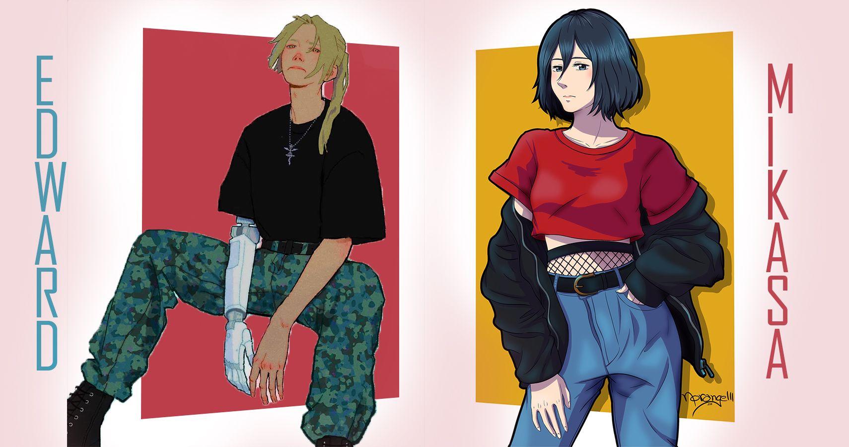 10 Fan Art Picture Of Anime Heroes In Modern Day Outfit Fan Art