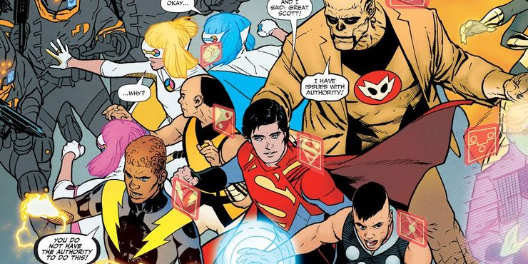 legion of super heroes vs science police - 10 personajes de Superman que han sido olvidados