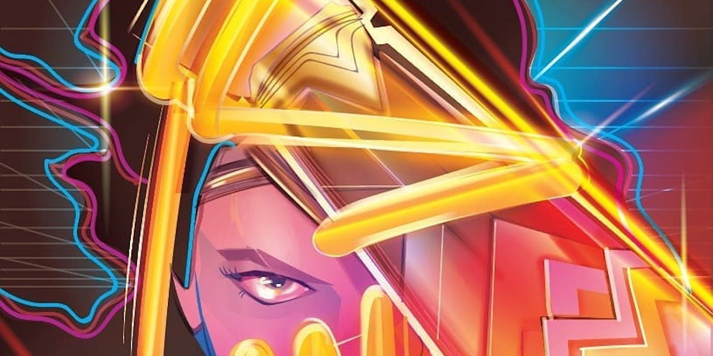 Wonder Woman 1984 Goes Super-Neon in Comic Con Colombia Exclusive Poster