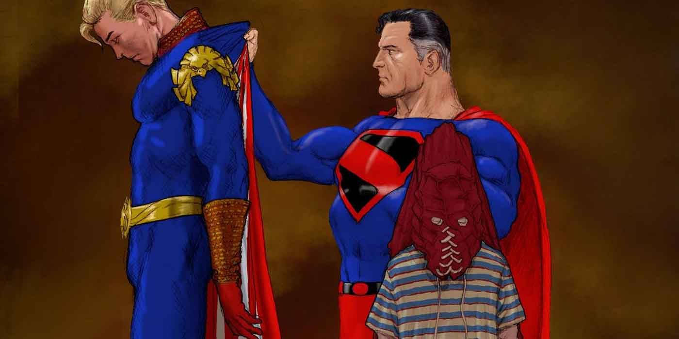 Superman Art Pits Kingdom Come's Man of Steel Against Homelander and Brightburn