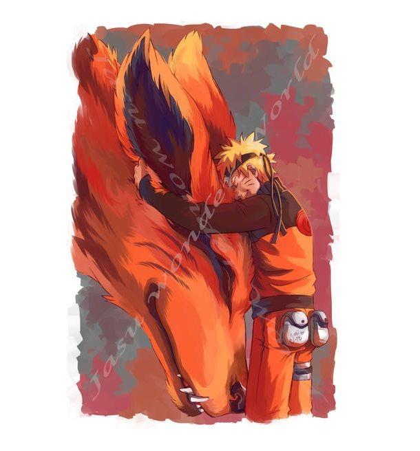 Naruto 10 Great Pieces Of Kurama Fan Art Cbr