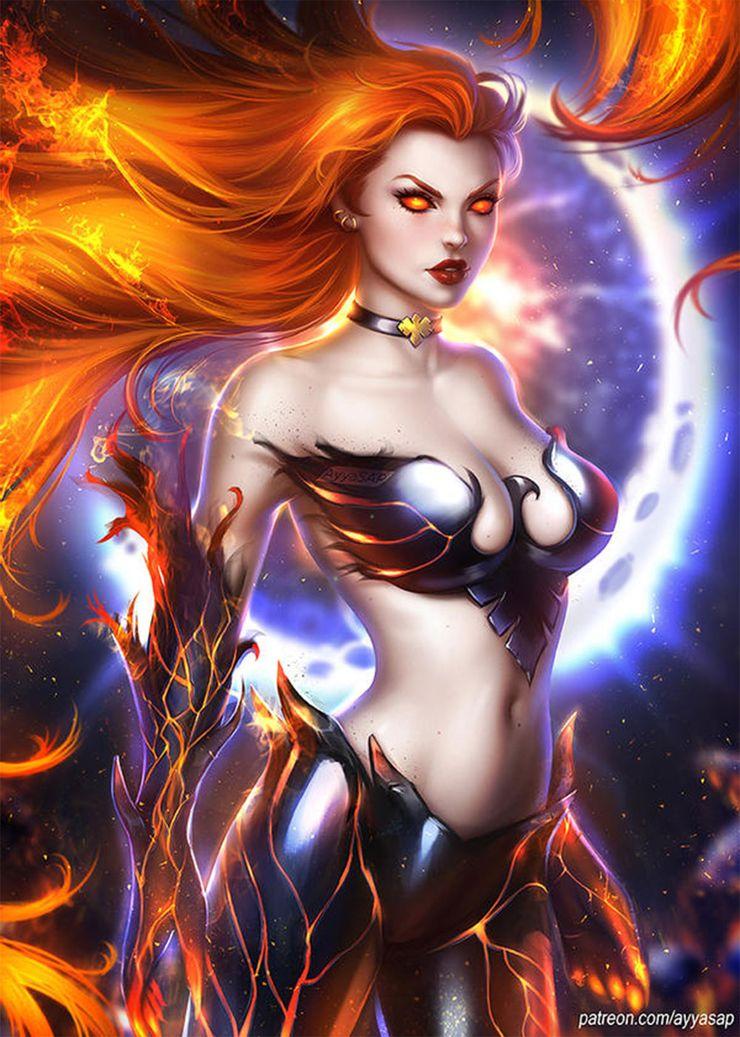 Image result for Dark phoenix fan art obsidian