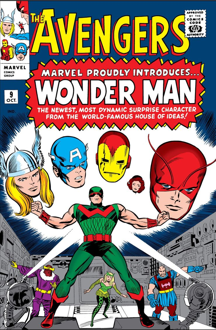 09/10 The Avengers: Marvel Proudly Introduces… Wonder Man - The Newest, Most Dynamic Surprise Character From The World-Famous House Of Ideas!