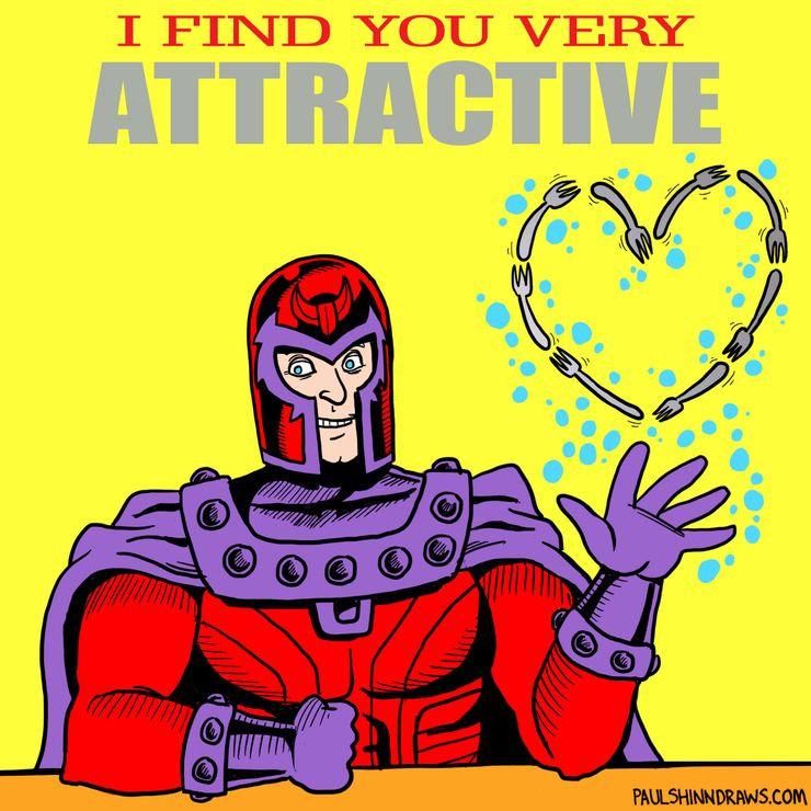 Image result for magneto burger valentines card