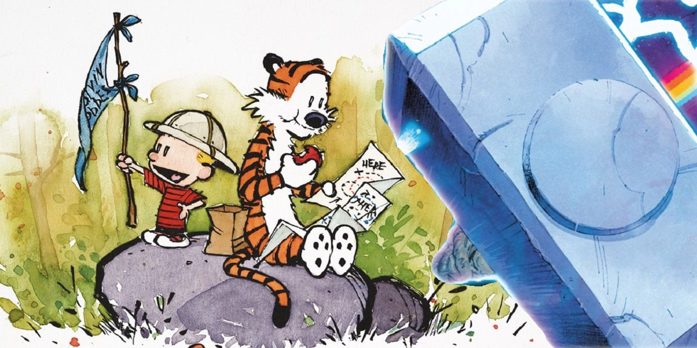 Calvin and Hobbes Viral Comic Ponders If They Are Worthy of Thor's Hammer