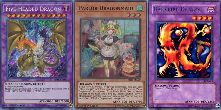 5 headed dragon dragonmaid darkfire dragon Yugioh